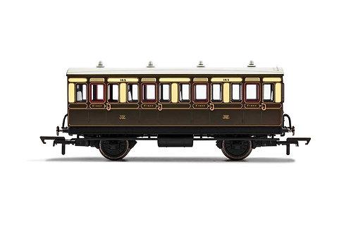 R40111 GWR 4 Wheel Coach 1st Class Fitted Lights 143 - Era 2/3