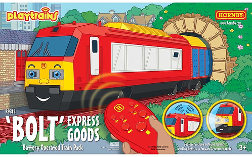 R9312 Playtrains - 'Bolt' Express Goods Remote Controlled Train Pack