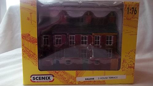 Scenix New 3 House Terrace Built Model1:76 Scale