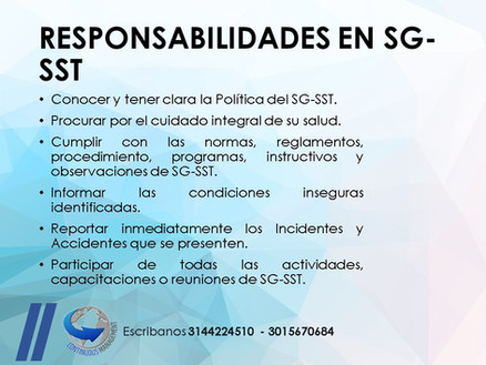 SGSST - responsabilidades - CONTINUOUS M
