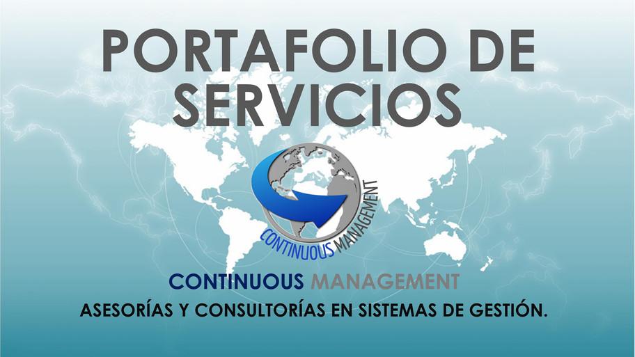 PORTAFOLIO DE SERVICIOS - CONTINUOUS MAN