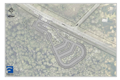New Parking Lot Outline and Location