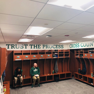 Babson College locker room wall graphics