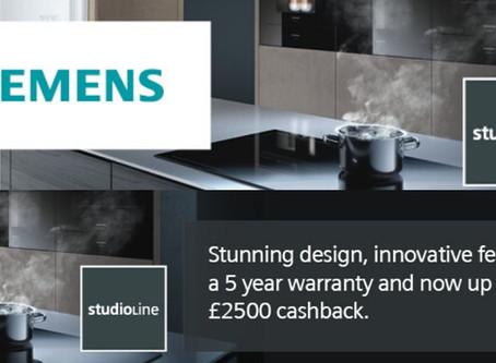 Claim Up To £2,500 Cashback On Siemens Appliances!