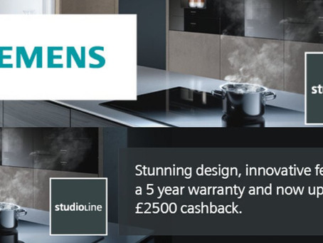 Claim Up To £2,500 Cashback On Siemens Appliances!