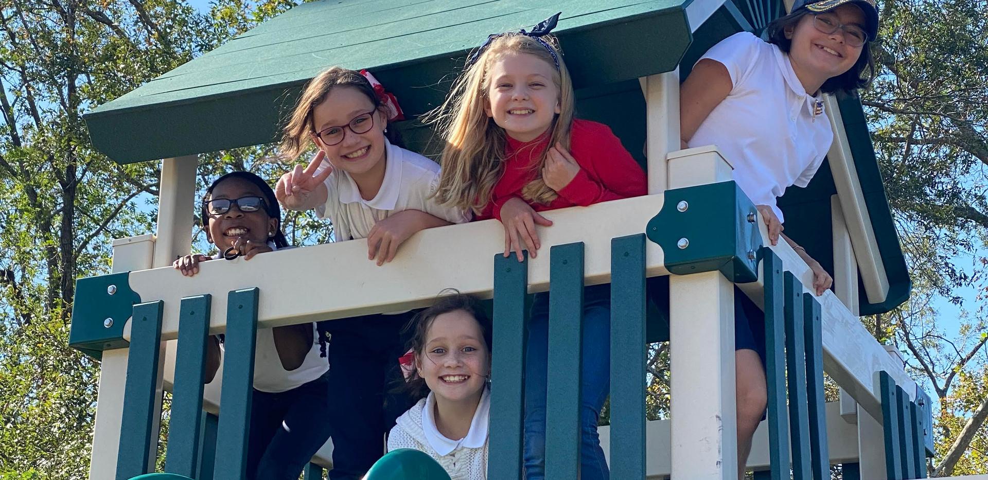 4th grade girls at recess.