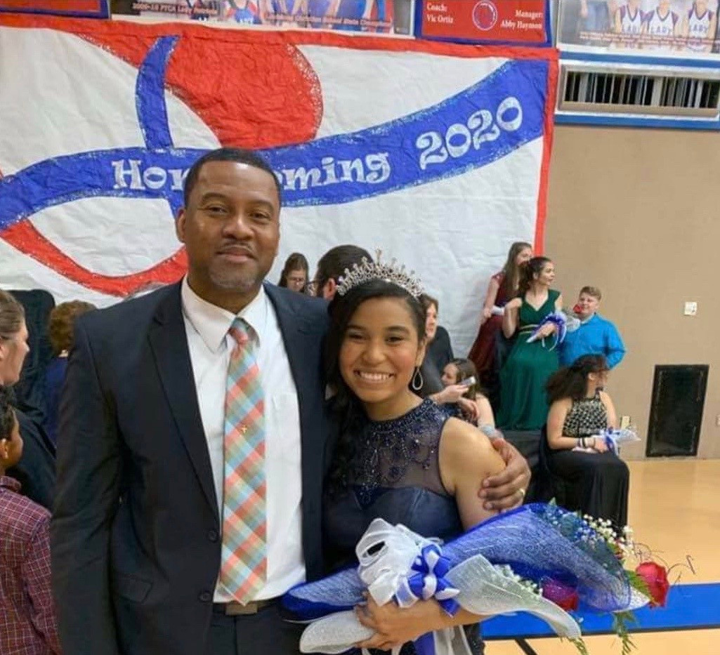 FTCA's 2020 Homecoming Queen and her father