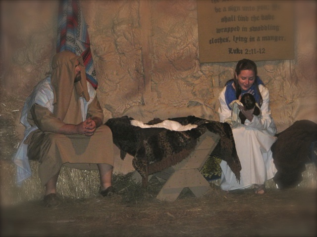 Mary and Joseph celebrating Jesus