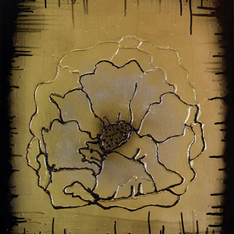 Gold Silver Black Flower 2