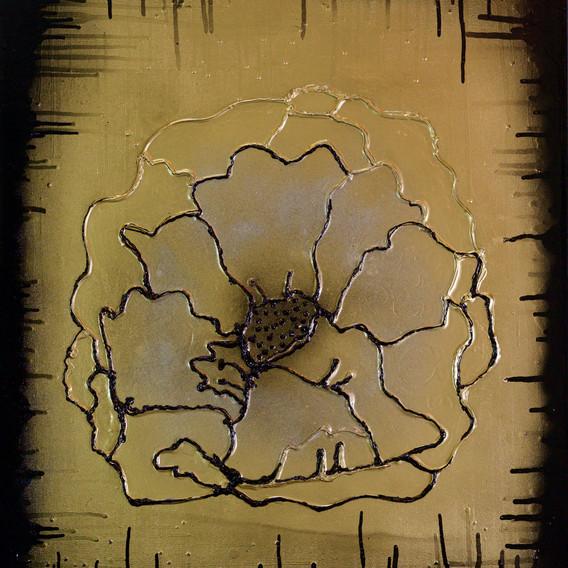 Gold Silver Black Flower 2