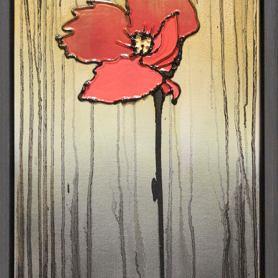 Gold Red Flower A