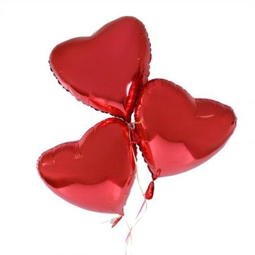 Шар гелиеый Сердце (фальгированный)