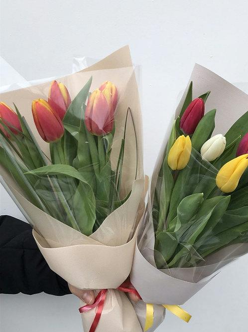 Букет 5 тюльпанов