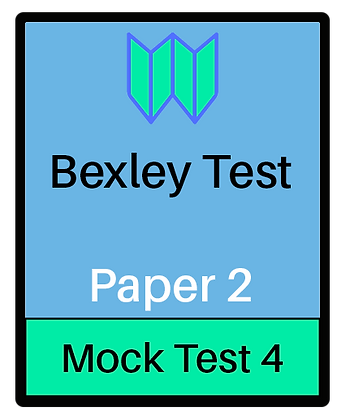 Bexley Test Paper 2 - Mock 4