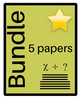 Open Answers - Maths Numeracy  - 5 Paper Bundle