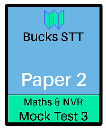 Bucks STT 11+ Paper 2 - Mock 3