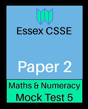 Essex CSSE Paper 2, Maths & Numeracy #5