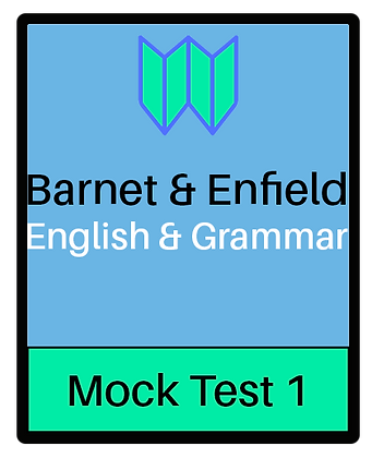 Barnet & Enfield: English & Grammar Pack 1