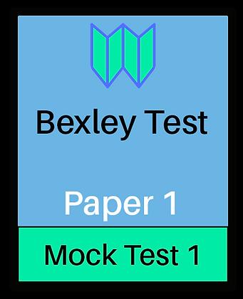 Bexley Test Paper 1 - Mock 1
