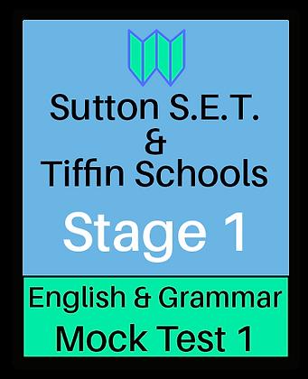 Sutton S.E.T. & Tiffin Schools Stage 1 English #1