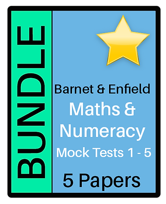 Barnet & Enfield: Maths & Numeracy - 5 Paper Bundle