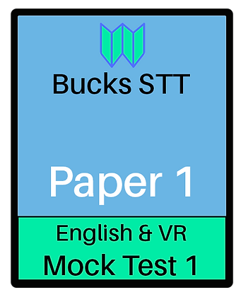 Bucks STT 11+ Paper 1 - Mock 1