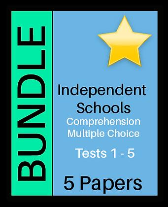 Independent Schools - Multiple Choice Comprehension - Bundle