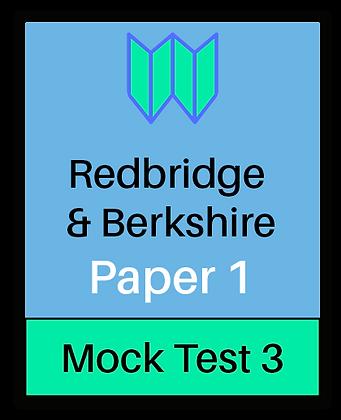 Redbridge & Berkshire Paper 1 - Mock3