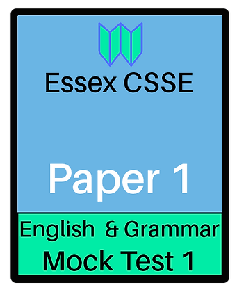 Essex CSSE Paper 1, English & Grammar #1