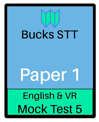 Bucks STT 11+ Paper 1 - Mock 5