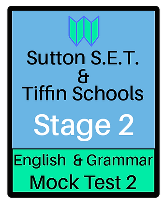 Sutton S.E.T. & Tiffin Schools Stage 2 English & Grammar #2