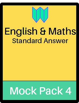 English & Maths Papers - Pack 4