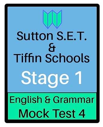 Sutton S.E.T. & Tiffin Schools Stage 1 English & Grammar #4