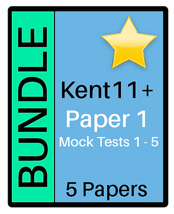 Kent Test - Paper 1 - 5 Paper Bundle