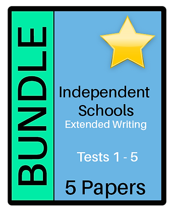 Independent Schools - Extended Writing - Bundle