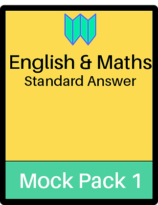 English & Maths Papers - Pack 1