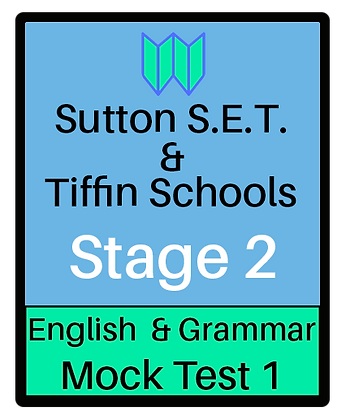 Sutton S.E.T. & Tiffin Schools Stage 2 English & Grammar #1