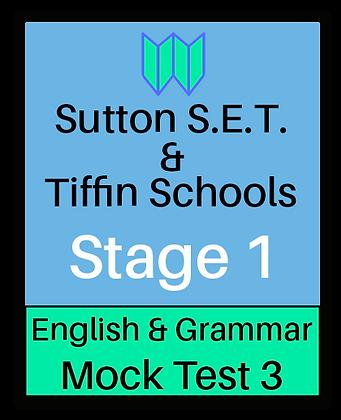 Sutton S.E.T. & Tiffin Schools Stage 1 English & Grammar #3