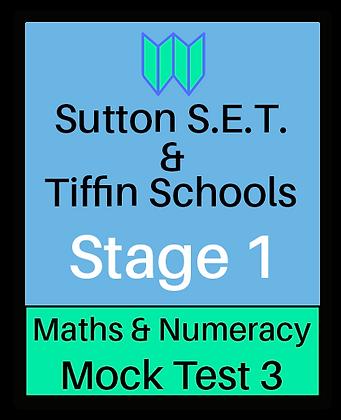 Sutton S.E.T. & Tiffin Schools Stage 1 Maths & Numeracy #3