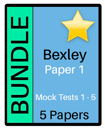 Bexley Test Paper 1 - 5 Paper Bundle