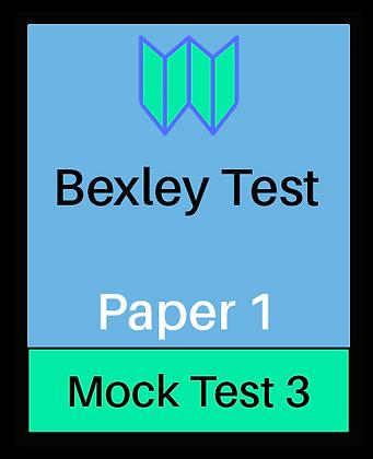 Bexley Test Paper 1 - Mock 3