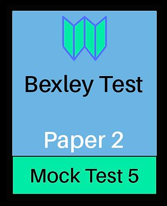 Bexley Test Paper 2 - Mock 5