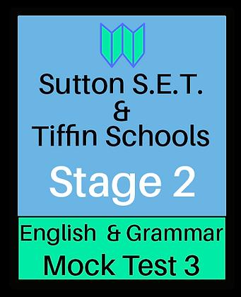 Sutton S.E.T. & Tiffin Schools Stage 2 English & Grammar #3