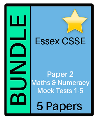 Essex CSSE Paper 2, Maths & Numeracy - 5 Paper Bundle