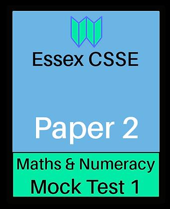 Essex CSSE Paper 2, Maths & Numeracy #1