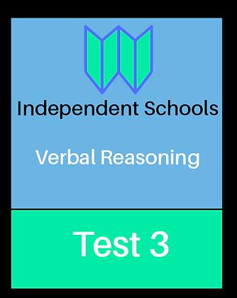 Independent Schools - Verbal Reasoning Test 3
