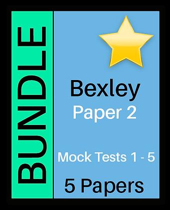 Bexley Test Paper 2 - 5 Paper Bundle