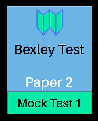 Bexley Test Paper 2 - Mock 1