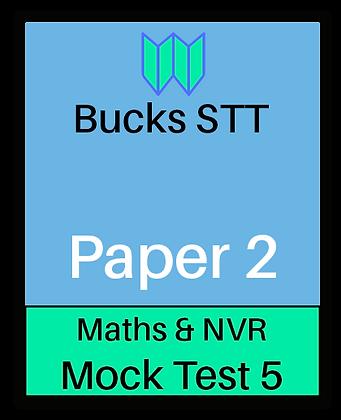 Bucks STT 11+ Paper 2 - Mock 5