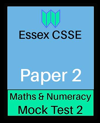 Essex CSSE Paper 2, Maths & Numeracy #2